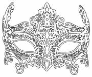 Coloring pages Adult mask to cut