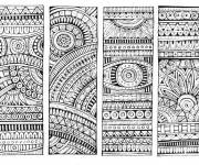 Coloring pages Anti-stress black and white mandala