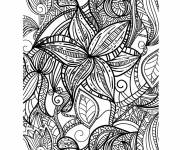 Coloring pages Flowers Stylized Adult Anti-stress