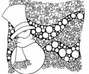 Coloring pages Adult Christmas in color