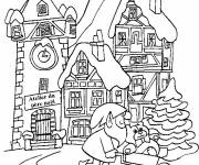Coloring pages Adult Christmas in Winter