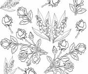 Coloring pages Adult Botanical Flowers