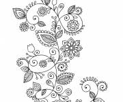 Coloring pages Adult flowers to decorate