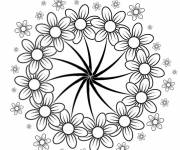 Coloring pages Adult flowers with Five petals