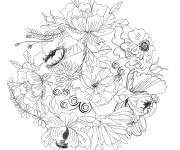 Coloring pages Adult Pencil Flowers
