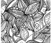 Coloring pages Anti-stress flower
