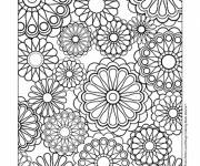 Coloring pages Difficult stylized flowers