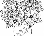 Coloring pages wonderful Flowers in A Vase