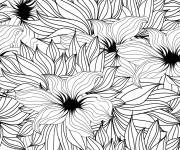 Free coloring and drawings Adult Flowers by all Coloring page
