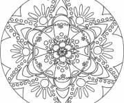Free coloring and drawings Flower Mandala easy to color Coloring page