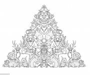 Free coloring and drawings Adult Forest Coloring page