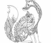 Coloring pages Adult Fox Garden