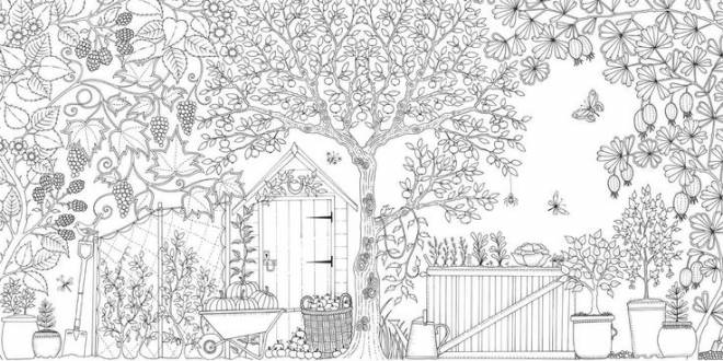 Free coloring and drawings Adult garden facade Coloring page