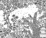 Free coloring and drawings Adult Garden Spring Coloring page