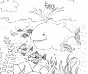Coloring pages Adult Landscape Seabed