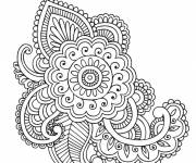 Coloring pages Adult Flowers and Art Online