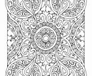 Coloring pages Adult Mandala Difficult