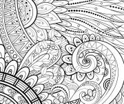 Coloring pages Adult Mandala Leaves