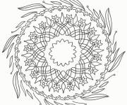 Coloring pages Difficult Mandala Flowers