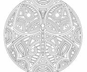 Coloring pages Mandala Butterfly Anti-Stress