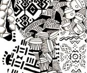 Coloring pages Africa in color