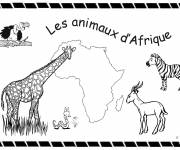 Coloring pages African animals to cut out