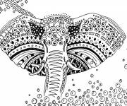 Coloring pages Artistic elephant