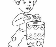 Coloring pages Little African child