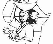Coloring pages Maternal Africa