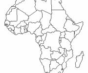 Coloring pages The African continent