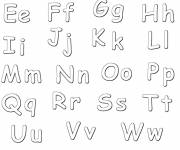 Coloring pages Alphabet in upper and lower case