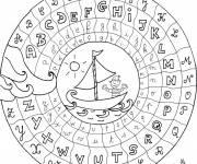 Coloring pages Color English alphabet
