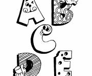 Coloring pages Funny Letters of the Alphabet