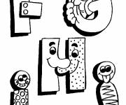 Coloring pages Humorous Alphabet Letters