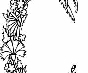 Coloring pages Letter C in the shape of a Plant