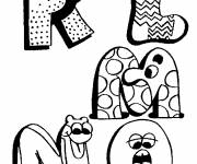 Coloring pages Letters of the Alphabet that make you laugh