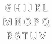 Coloring pages Stylized alphabet