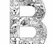Coloring pages The Letter B of the Alphabet and animals