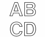 Coloring pages Uppercase letters for coloring