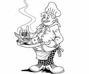 Coloring pages A Chef