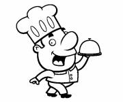 Coloring pages Fun cook
