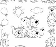 Coloring pages Funny Animals