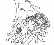 Coloring pages Humorous Christmas tree