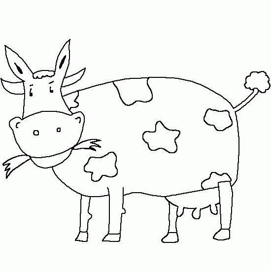Free coloring and drawings A humorous cow Coloring page