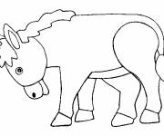 Free coloring and drawings Donkey lowering its head Coloring page