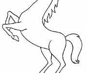 Free coloring and drawings Horse while jumping Coloring page