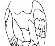 Free coloring and drawings A stylized eagle Coloring page