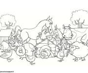 Free coloring and drawings Color Farm Animals Coloring page