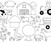 Free coloring and drawings Easy farm animals Coloring page