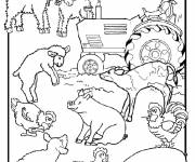 Free coloring and drawings Farm animals for children Coloring page